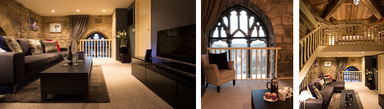 luxurious medieval lounge at pottergate tower