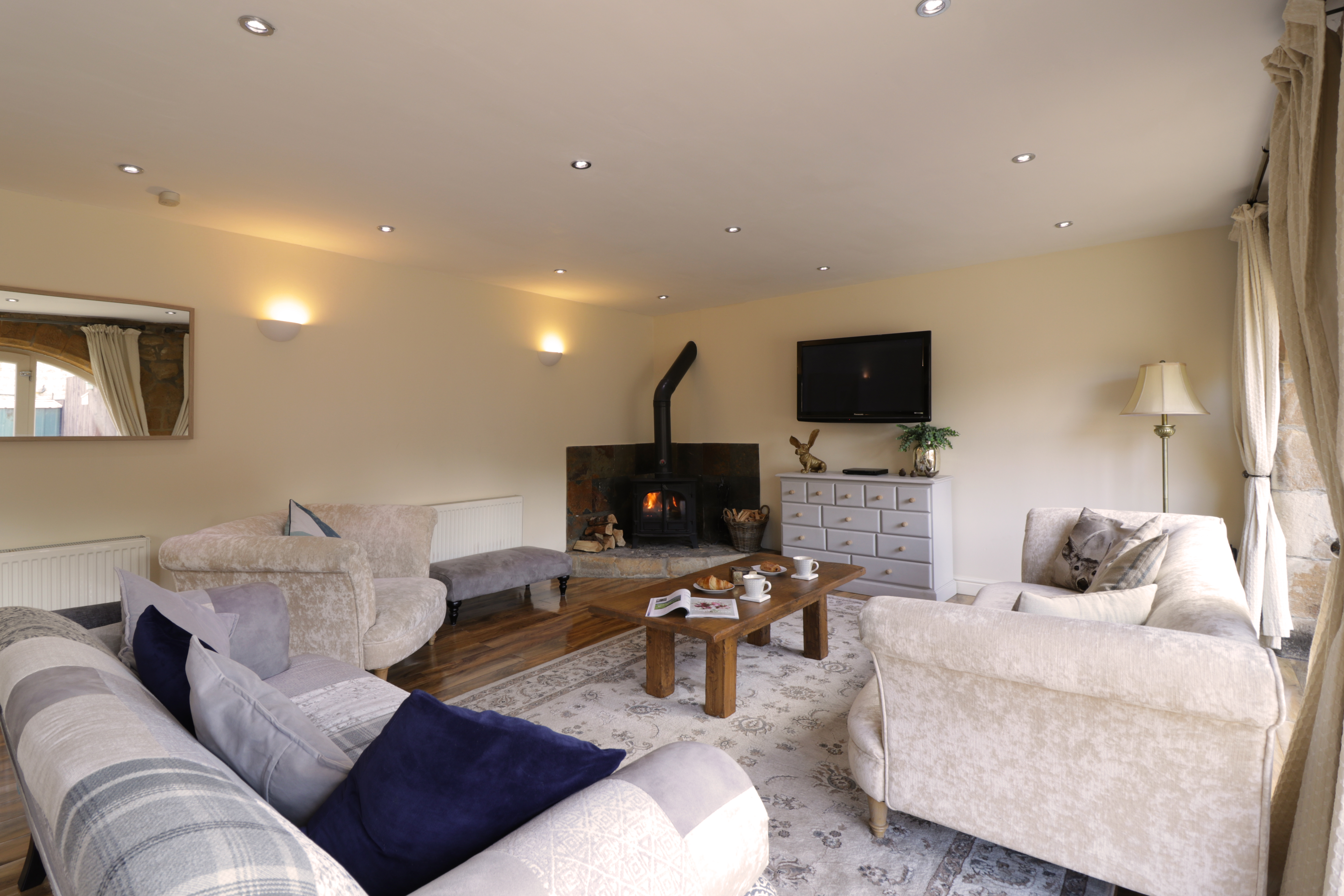 luxury holiday cottages in Otterburn next to Le Petit Chateau William de Percy wedding venue