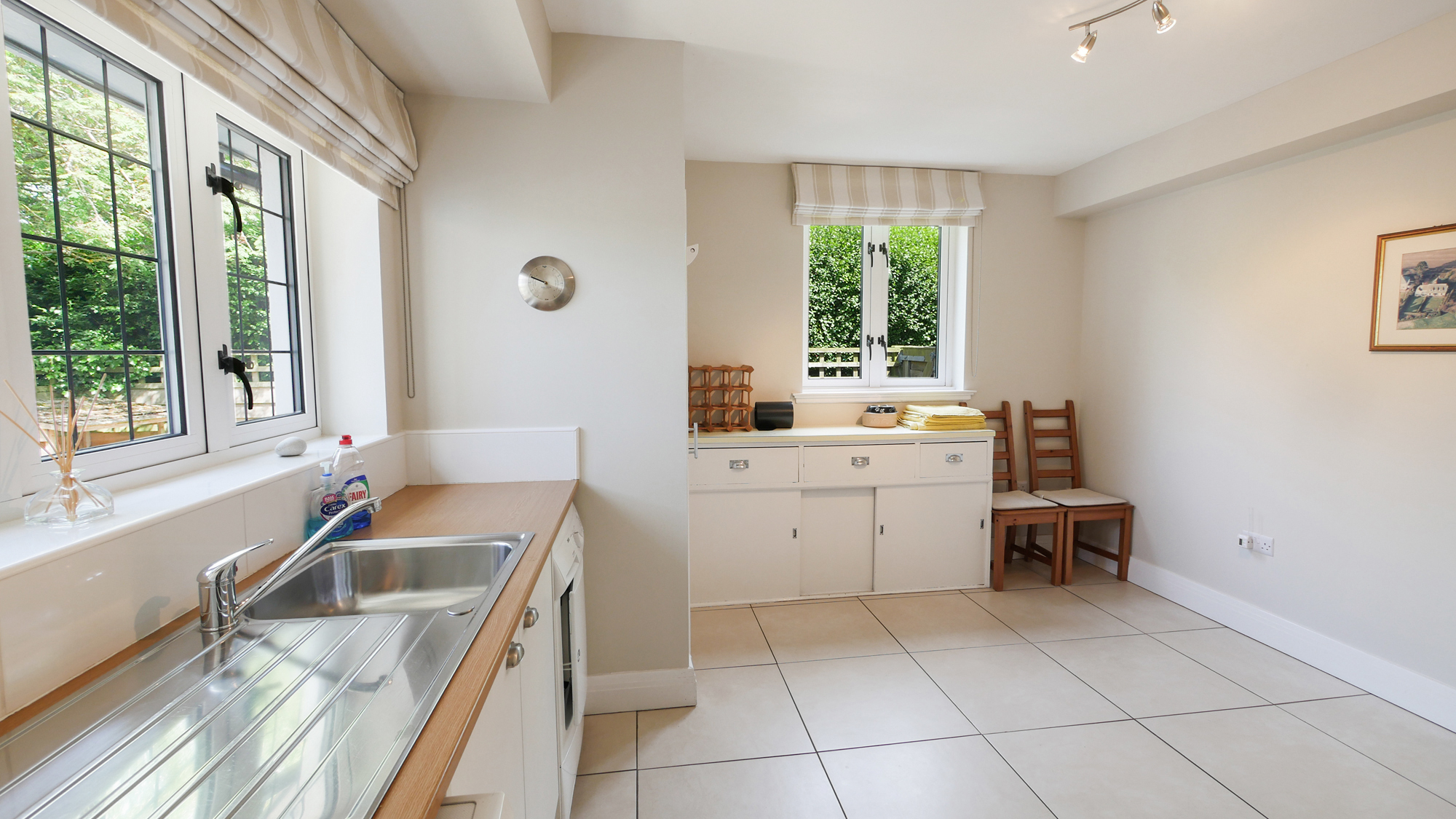 large self catering holiday cottages pet friendly with large garden and real fire
