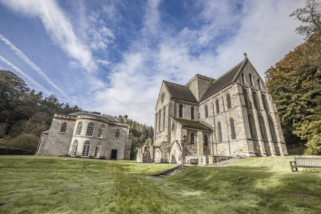 brinkburn priory in Northumberland wedding venue, accommodation close to Brinkburn priory