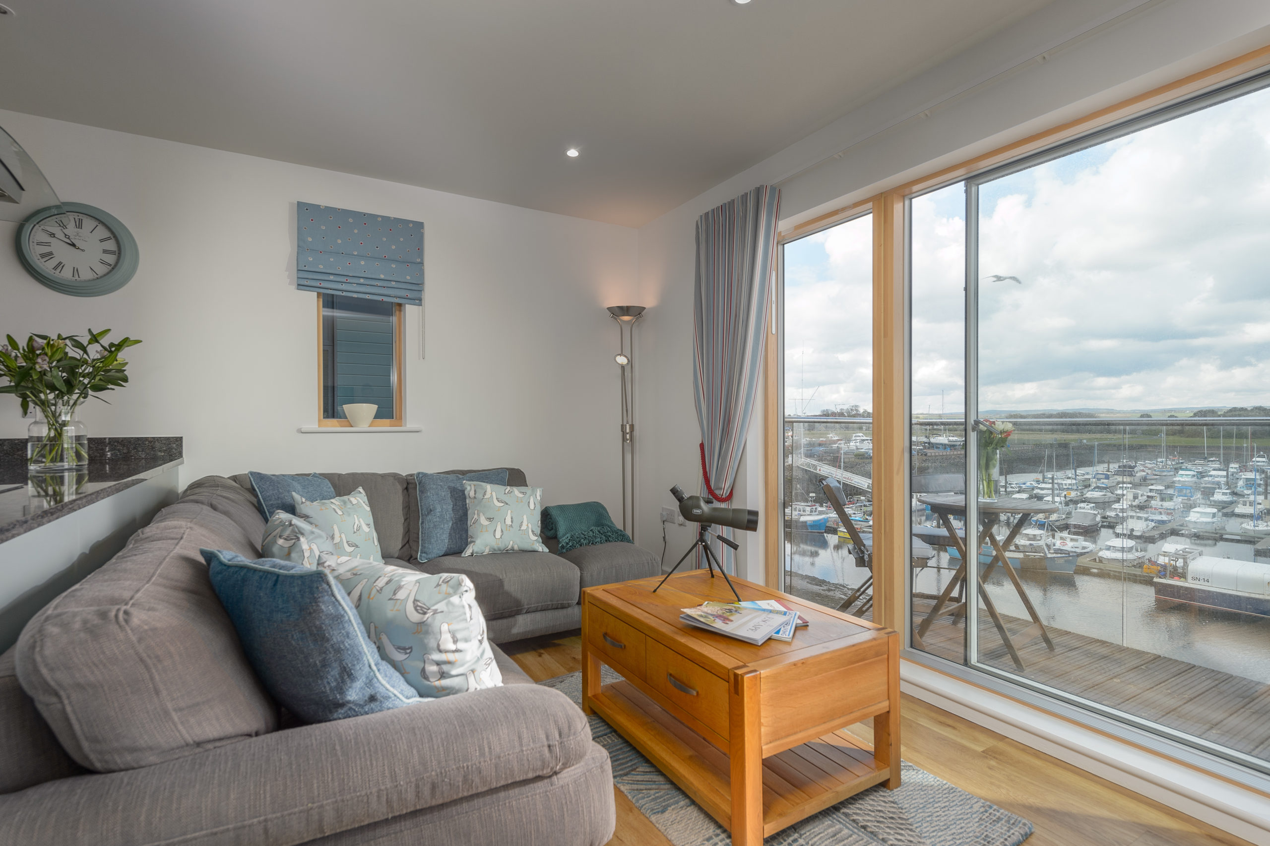 Cottages in Amble at Coble Quay with sea views and pet free
