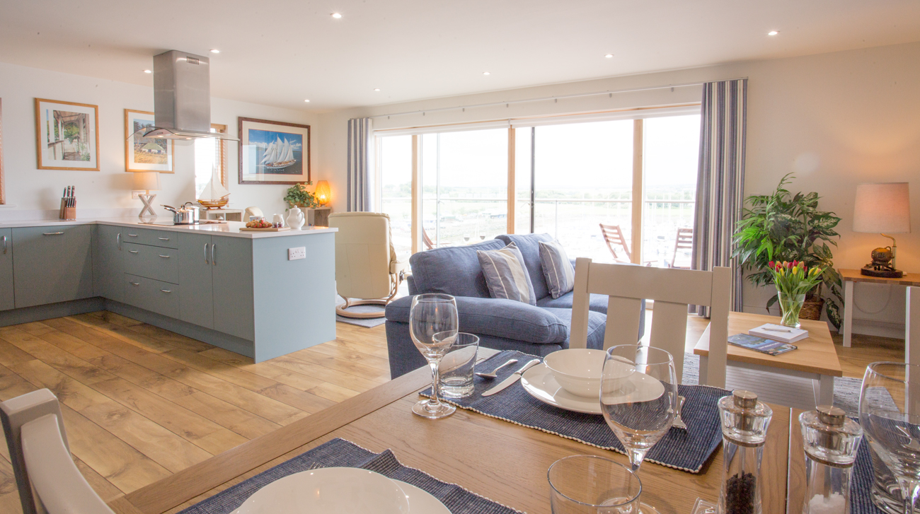 luxury apartment in amble with coastal sea views