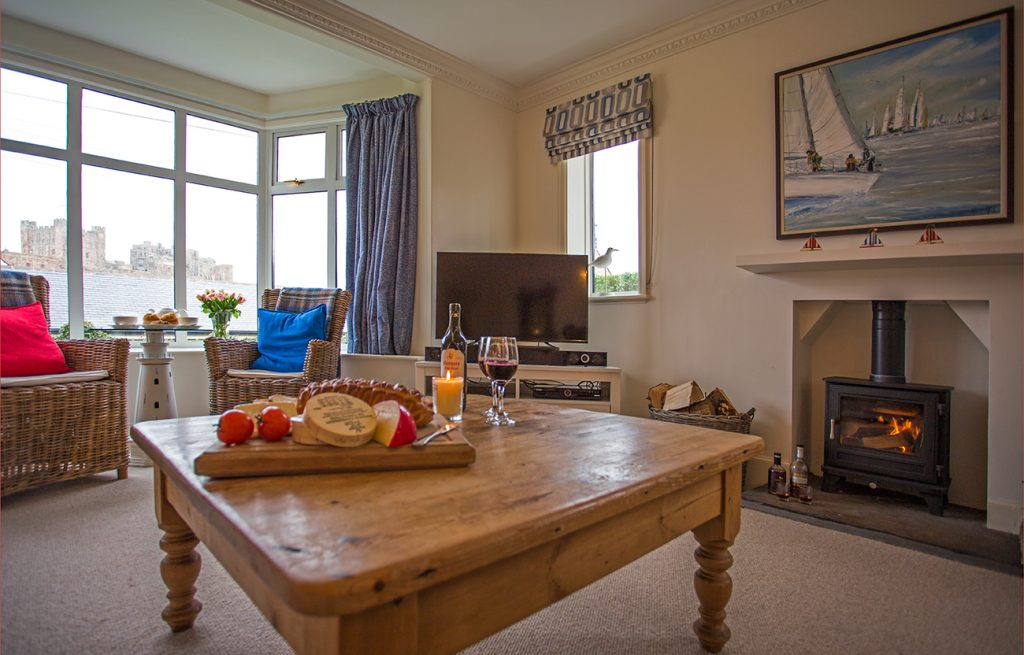 luxury bamburgh holiday cottages with real fire pet friendly and enclosed garden