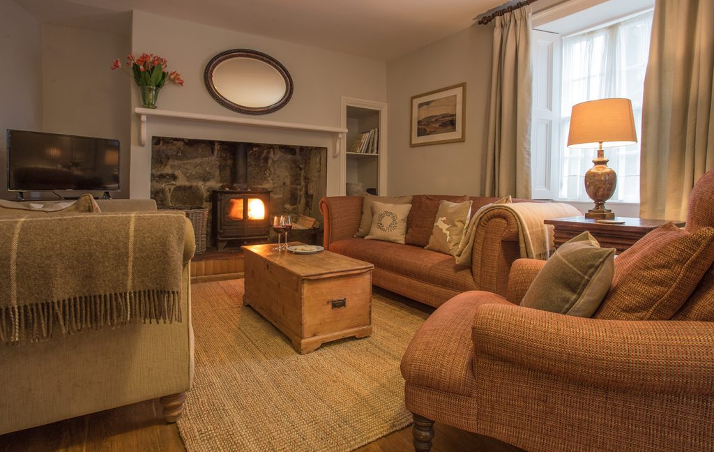 pet free holiday cottages for allergy sufferers in warkworth northumberland, luxury cottages for 6 guests in warkworth with real fire
