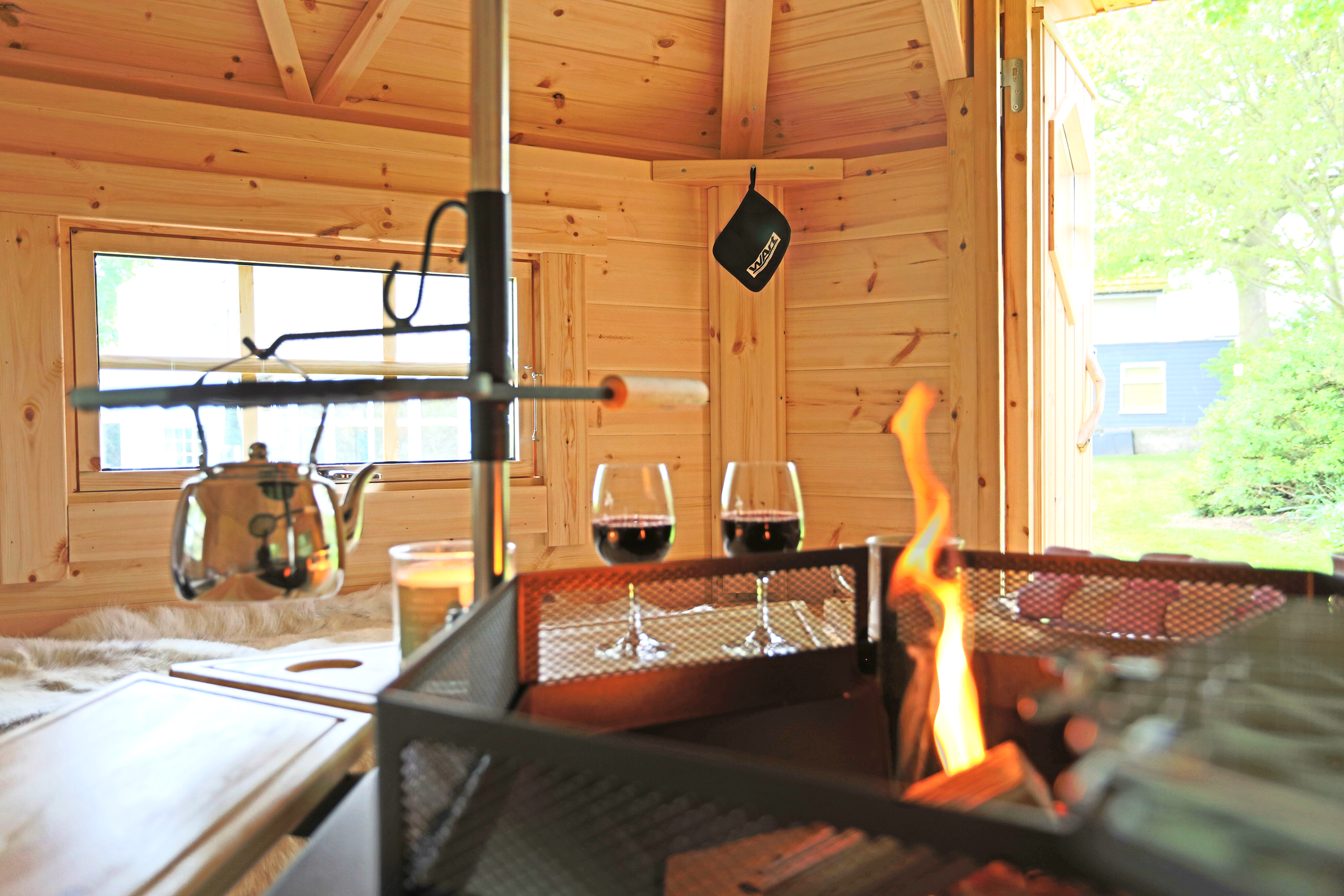 BBQ Huts Kotas in cottages in Northumberland