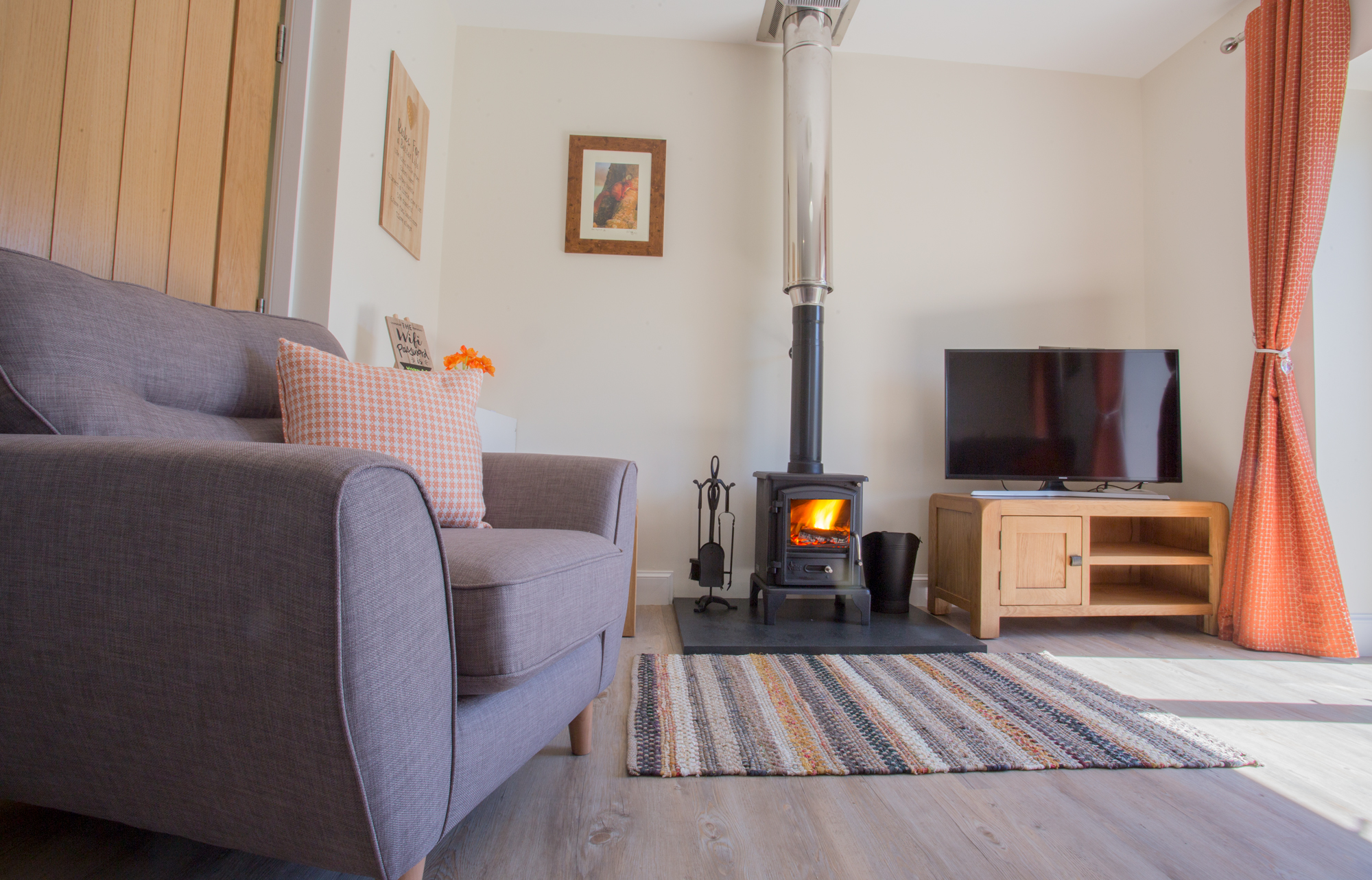 cottages with real fires for families in Northumberland, cottages in Alnwick with real fire