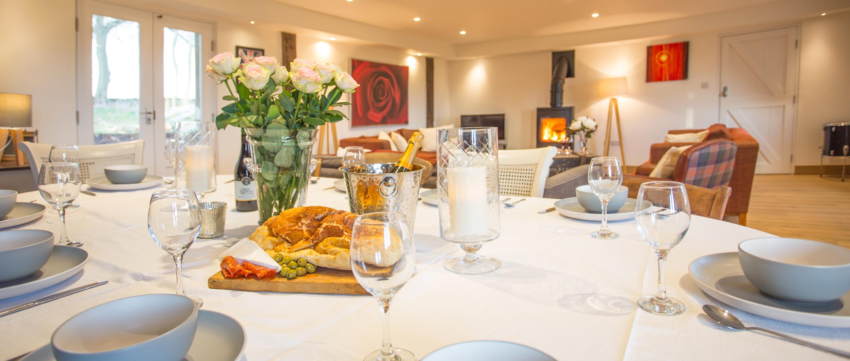 The Drum Barn luxury dining room