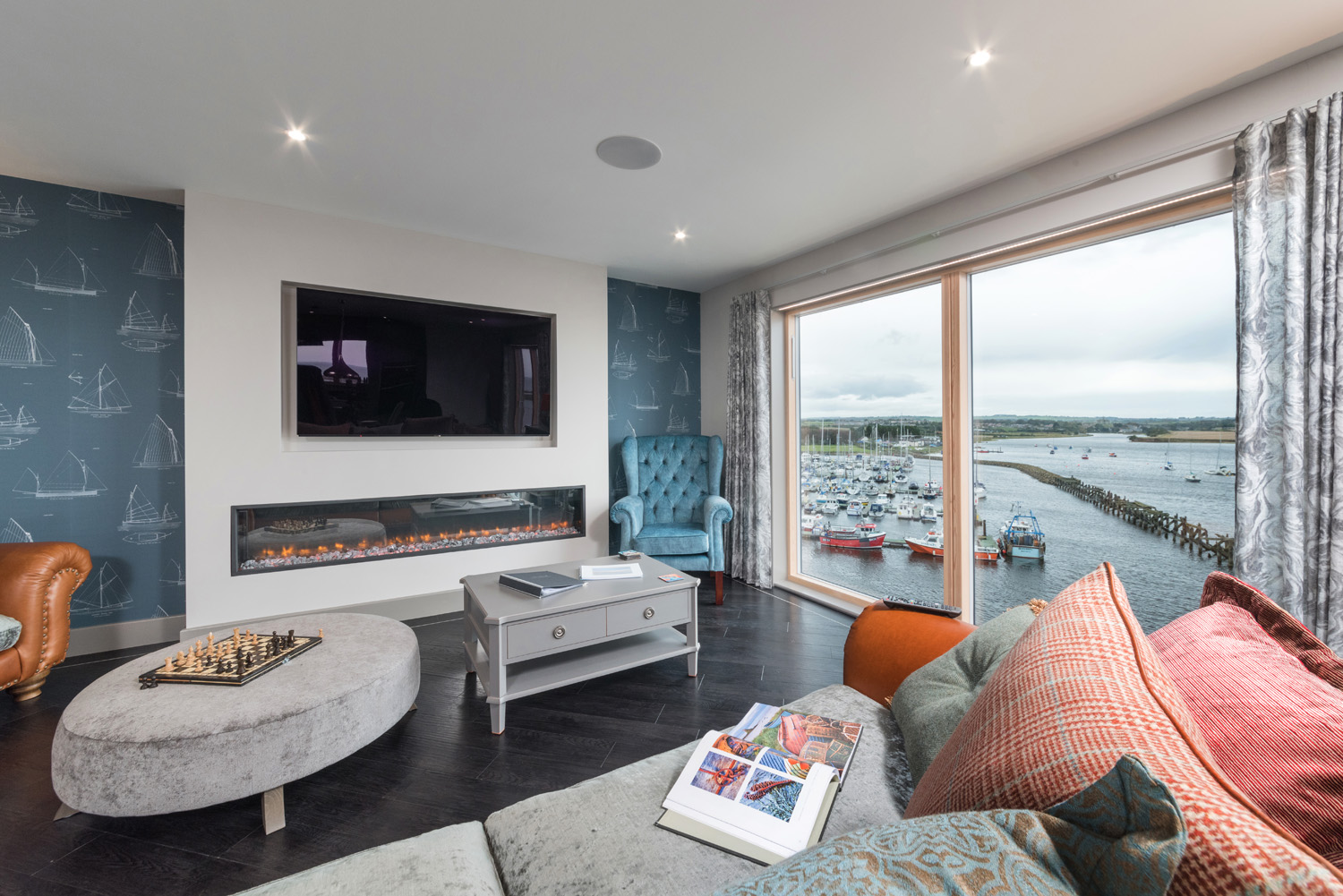 the penthouse amble luxury seaside cottages accommodation in northumberland with sea views
