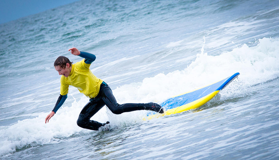 surfing in Northumberland