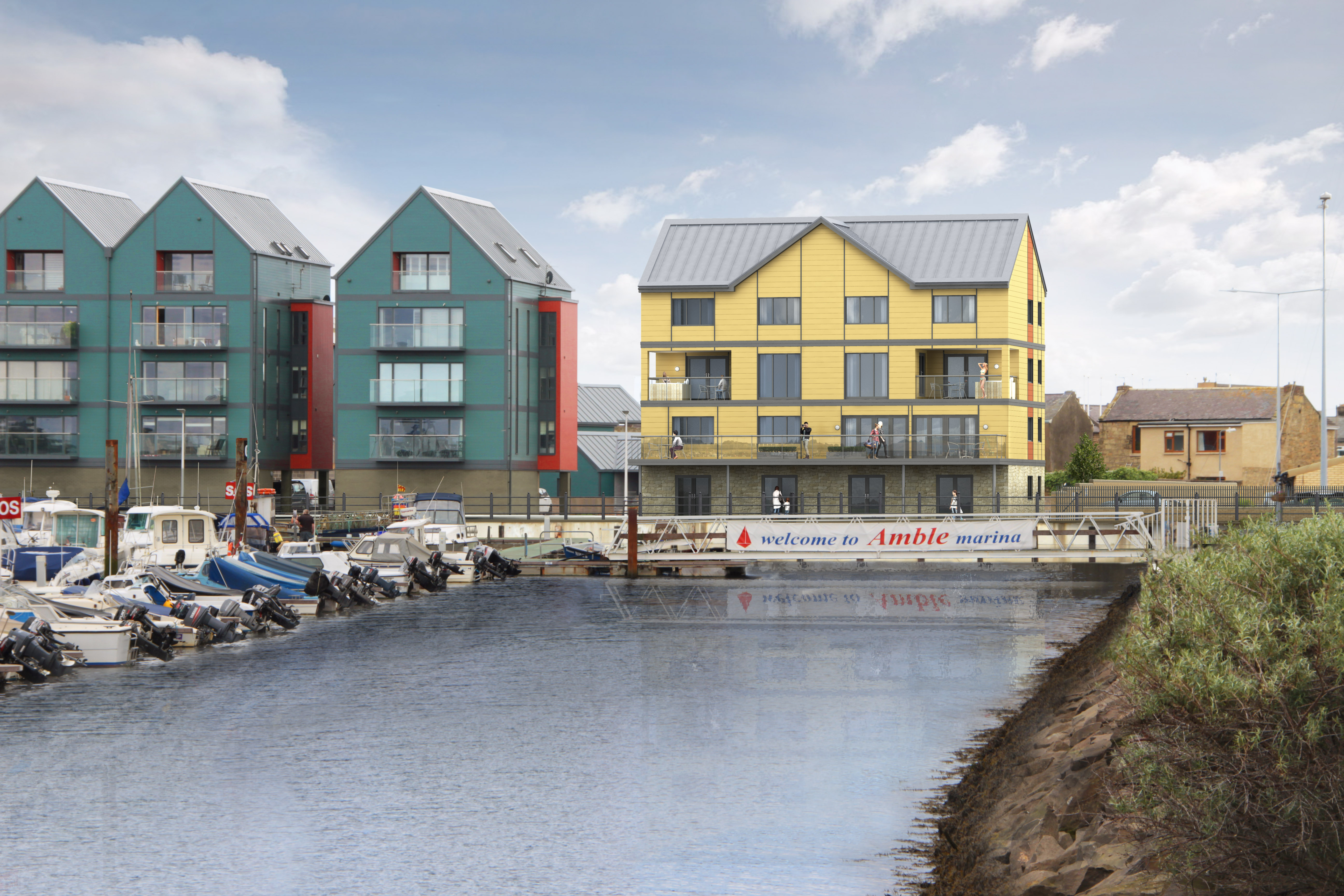 luxury apartments in Amble with sea views accommodation Northumberland with sea views