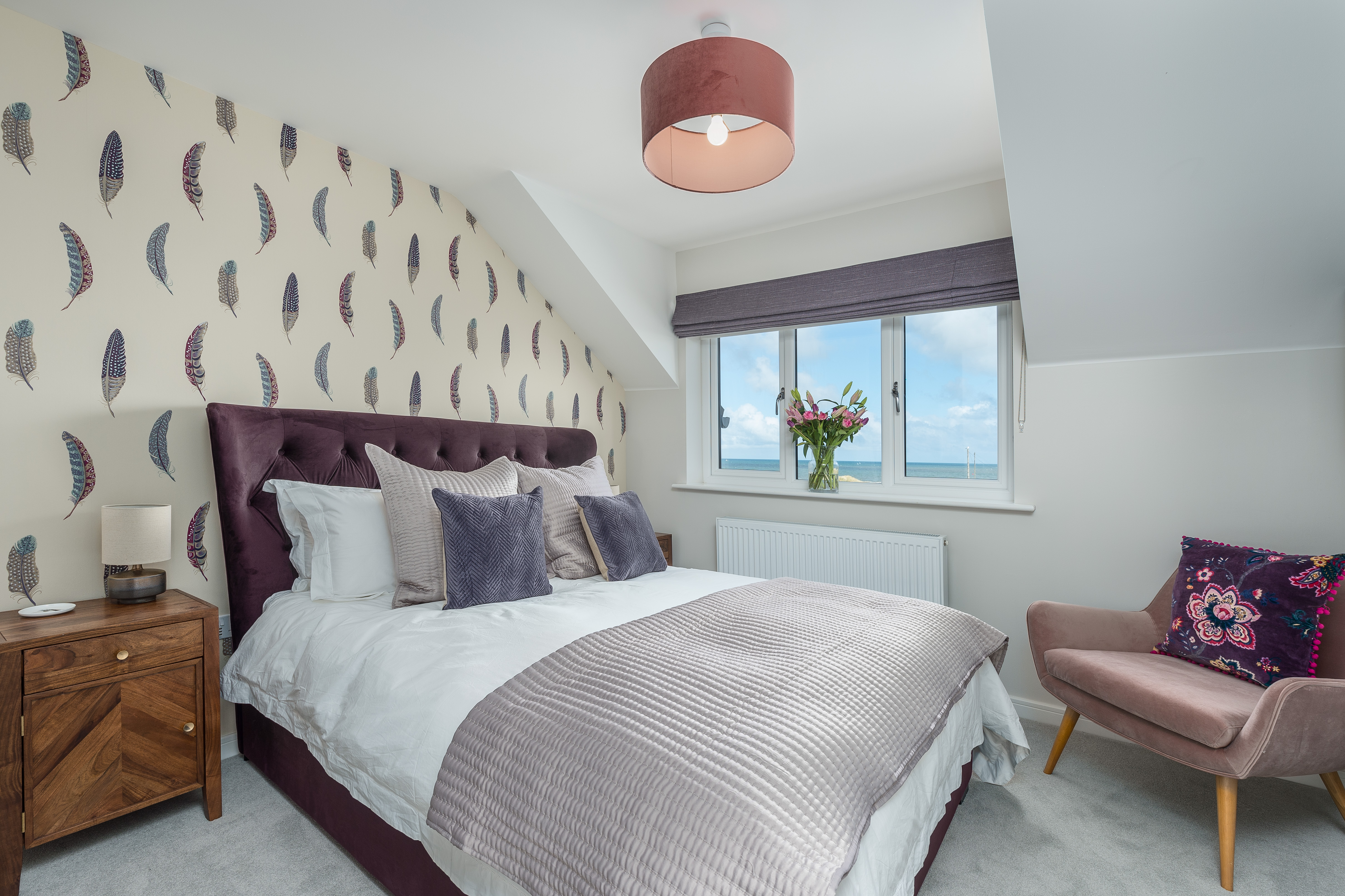 luxury holiday cottage in amble with sea views, amble cottage with sea views, amble holiday home sea views for families