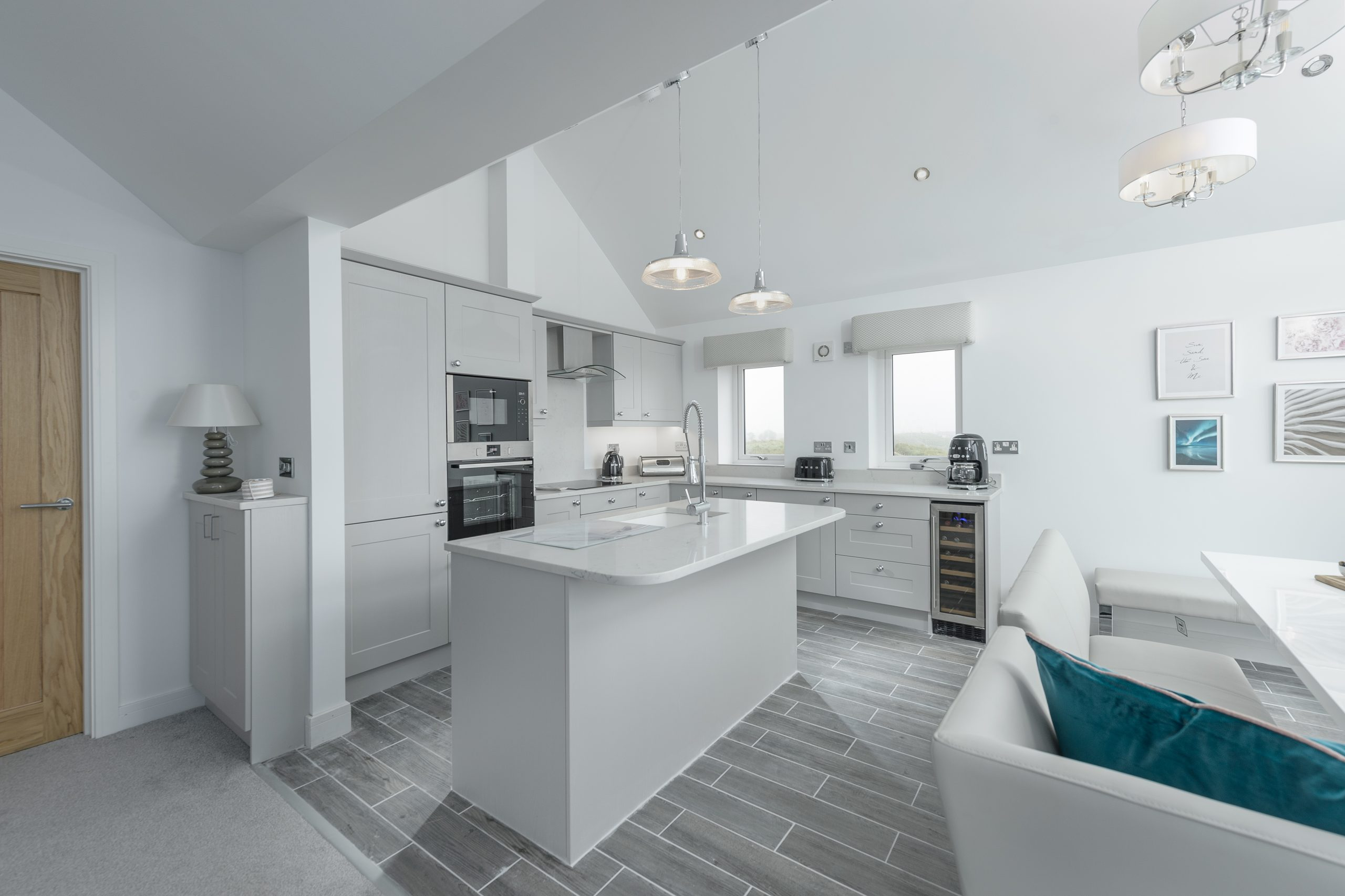 harbour sands in amble kitchen and lounge for holidays northumberland