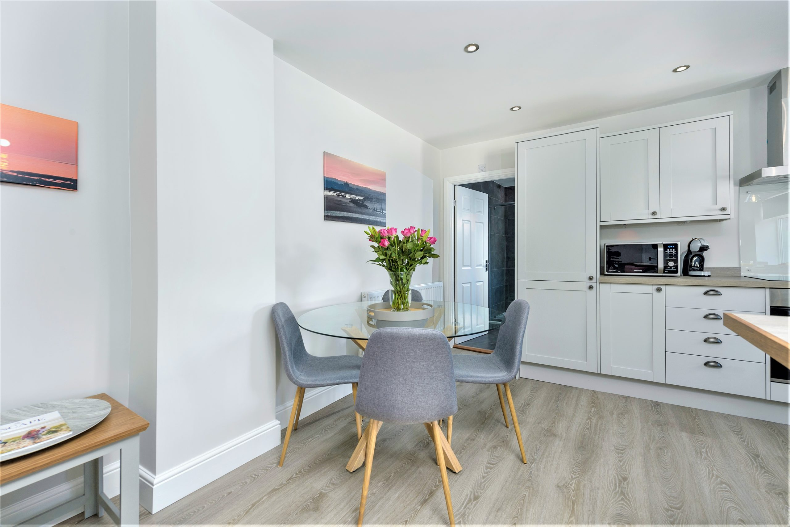 Open plan dining for families or couples