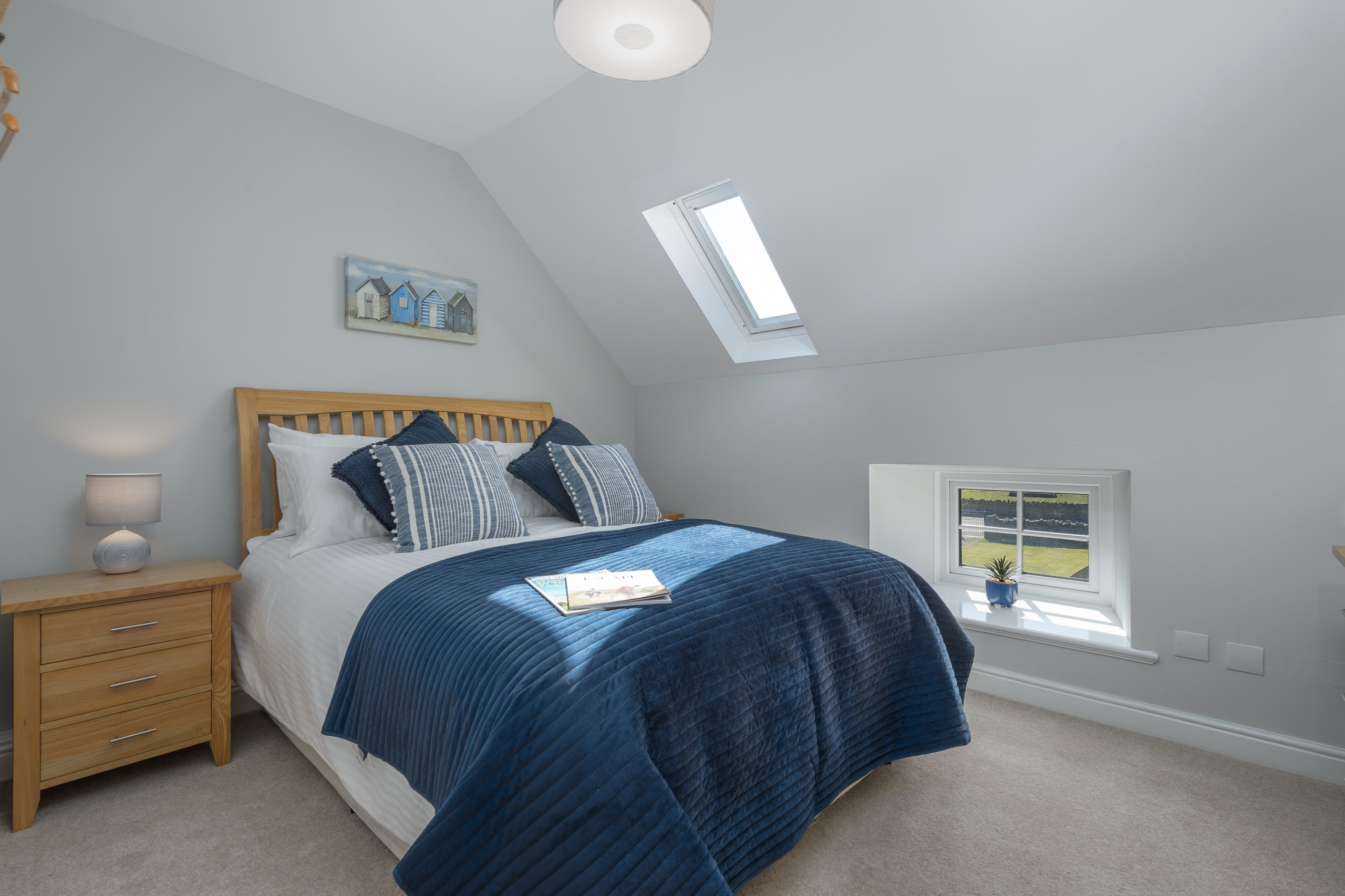 bedroom at the oystercatcher beadnell northumberland seaside harbour beach coastal holiday cottage luxury